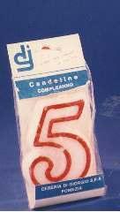 CANDELA FORMA NUMERO   5   1pz