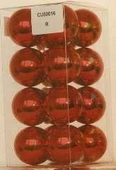 SFERE PLASTICA 50mm ROSSE 16pz