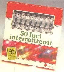 50 LUCI CON FIORE      BIANCHE