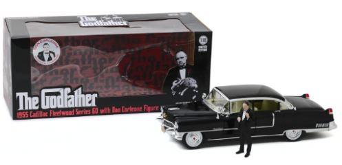 The Godfather Cadillac Fleetwood 1/18 con la figura di Don Corleone