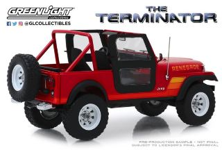Jeep CJ-7 Renegade Film The Terminator con Sarah Connor's 1/18