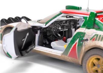 Lancia Stratos HF Nr.1 1/18 1976 2nd Rallye Sanremo versione sporcata