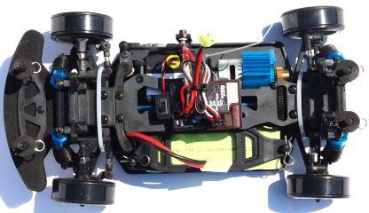 HIMOTO EDC16 DRIFT 1/16 GIALLA 4x4 MONTATA CON RADIO 2,4Ghz