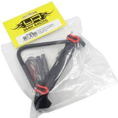 Paraurti anteriore in lega di alluminio con LED per Axial SCX10 II Traxx