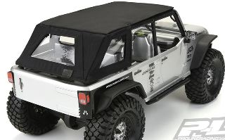 CAPPOTTINA NERA SOFT-TOP SCX10