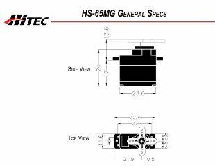 HS65 MG MICROSERVO      12,8gr