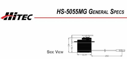 MICRO SERVO DIGITALE HS 5055MG