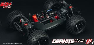 Granite 4X4 3S BLX Red/Blue 1/10 4WD monster truck