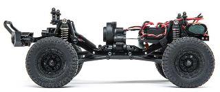 BARRAGE BLU SCALER 4WD    1/24 MONTATO CON RADIO