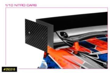 Piastre laterali per alettone posteriore 200mm 2pz