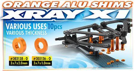 RASAMENTI 3x7x2,0mm ORANGE  X1