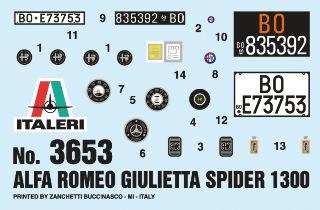GIULIETTA SPIDER 1600 1/24