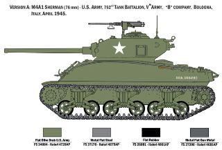 M4A1 Sherman con 10 soldati 1/35