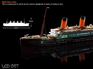 RMS TITANIC CON LED      1/700