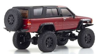 Toyota 4Runner Metallic Red Mini-Z 4X4 1/24 MX-01 con radio KT531P