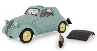 Fiat 500 B Topolino Verde Trasformabile 1948 1/18