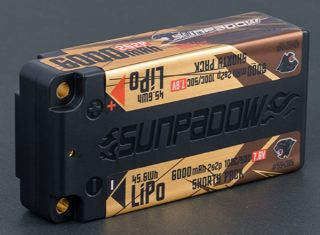 SUNPADOW LiPo HV SHORTY 6000mA 7,6v 2S 100C/50C COMPETITION