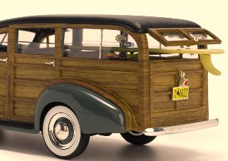 CHEVROLET WOODY SURF WAGON 1/18 GRIGIA 1939