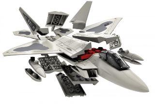F22 RAPTOR               208mm COSTRUZIONE TIPO LEGO NO COLLA
