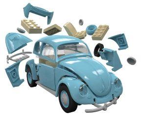 VW BEETLE QUICK BUILD    183mm COSTRUZIONE TIPO LEGO NO COLLA