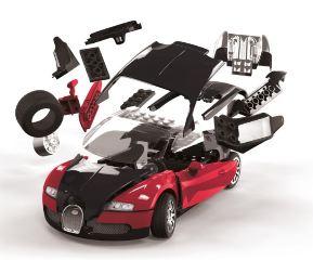 BUGATTI VEYRON QUICK BUILD COSTRUZIONE TIPO LEGO NO COLLA