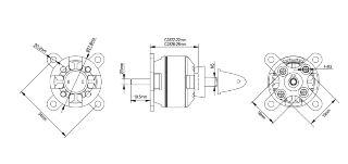 Motore Spitz brushless 2826-12 1350kv 240w