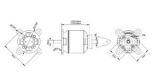 Motore Spitz brushless 2830-12 1000kv 260w