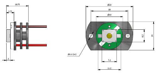 LED 1,5W CON FLANGIA    BIANCO