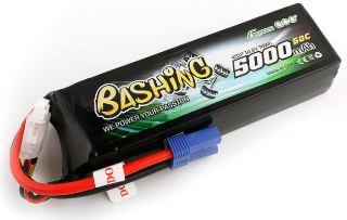 LiPo 4s 14,8v 5000mAh 50C BASHING XT90