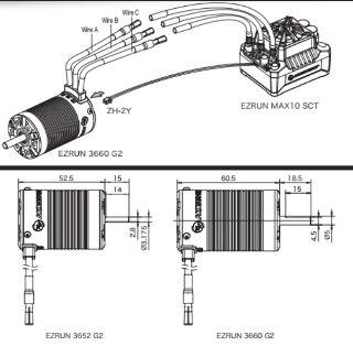 MOTORE 3660SL G2 3200kv ALBERO 5mm SHORT COURSE 4WD 1/10 SENSORLESS