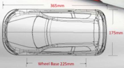 CARROZZERIA VW GOLF GTI  225mm