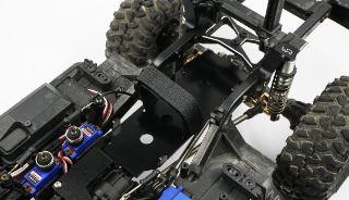 Piastra supporto batteria TRX4 in metallo low CG