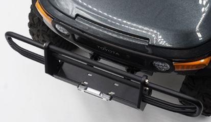 Paraurti anteriore in metallo per TRX-4 ed SCX10 II Nero