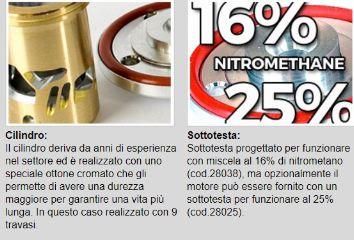 Motore Mephisto .21 ON/H 3,5cc pista 1/8 cuscinetto post. in ceramica