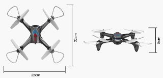 DRONE X15W DIRETTA VIDEO WiFi